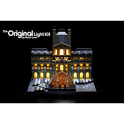 Brick Loot Lighting Kit for Your Lego Louvre Set 21024: Toys & Games