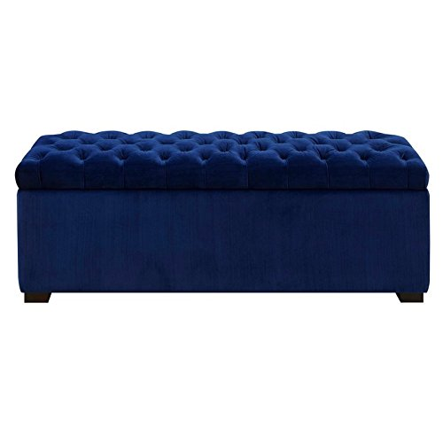 Picket House Furnishings Carson Shoe Storage Bench in Navy Blue