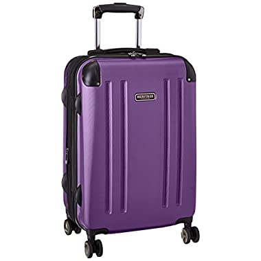 Heritage O'Hare 20 Inch 8-Wheel Carry-On Luggage, Purple, One Size