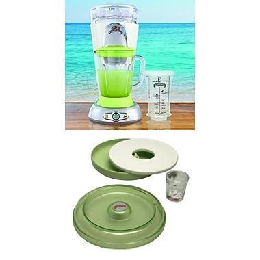 Margaritaville Bahamas Frozen Concoction Maker and AD2000 Salt Rimmer and Lime Serving Set Bundle