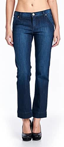 Angry Rabbit Womens Premium Designers Slim Straight Trouser Jeans Made in USA