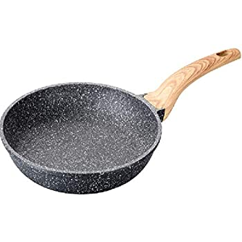 Carote 8 Inch Frying Pan PFOA Free Stone-Derived Non-Stick Coating From Switzerland, Bakelite Handle With Wood Effect (Soft Touch), Suitable For All Stove ...