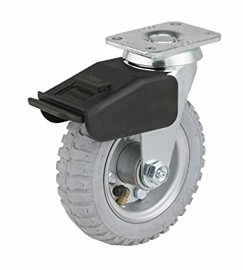 E.R. Wagner Swivel Plate Caster with Total Lock Brake 200 lbs Load Capacity