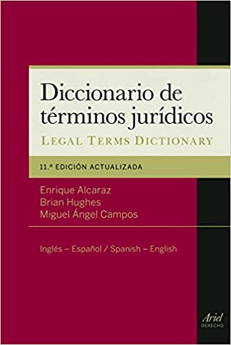 Diccionario De Términos Jurídicos: Inglés-español, Spanish-english por Enrique Alcaraz epub
