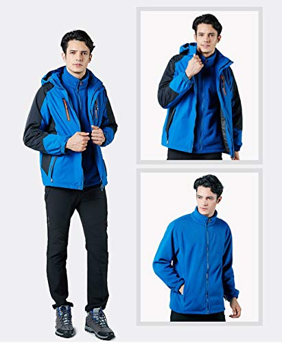 Resistente Vento Outdoor Tre Giacca S In Da color All'acqua Dimensione Guyuan Pezzi Uomo Al E Blue Pile fURH8fTqW