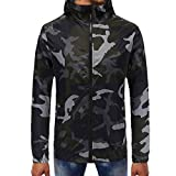 Makeupstore Sweatshirts for men hoodies, Camouflage Pullover Long Sleeve Hooded Sweatshirt Tops Blouse