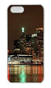 Ablaze With Lights And Beauty Of The City Polycarbonate Plastic Hard Case for iPhone 5S and iPhone 5 Transparent