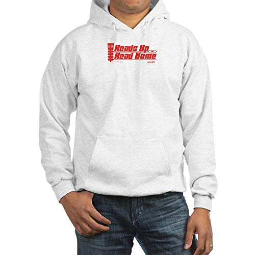 CafePress Heads Up Or Head Home Pullover Hoodie, Classic & Comfortable Hooded Sweatshirt White