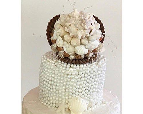 Cape Cod Seashell Ocean Bridal Bouquet, Wedding Cake Topper, Coastal Keepsake, Destination Wedding Decoration Sea Shell Beach (Beach Bridal Bouquets)
