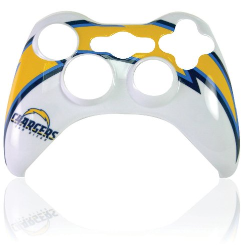 Mad Xbox Catz Faceplate - Xbox 360 Official NFL San Diego Chargers Controller Faceplate