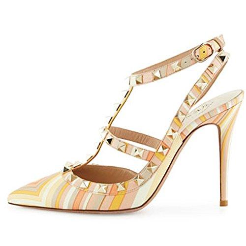 EKS - Zapatos de Tacón Mujer Mixcolor 2