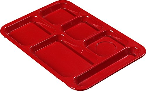 Carlisle 614R05 ABS Right-Hand 6-Compartment Divided Tray, 14