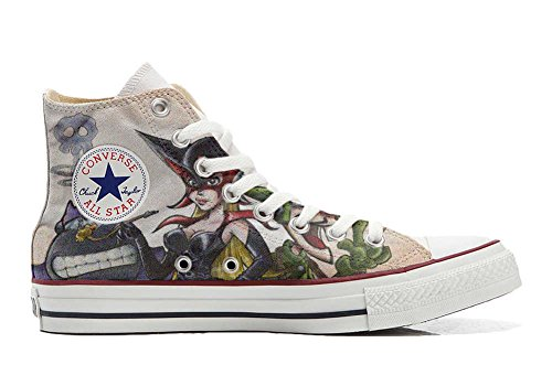 Schuhe Custom Converse All Star, personalisierte Schuhe (Handwerk Produkt customized) Cartoon Old S