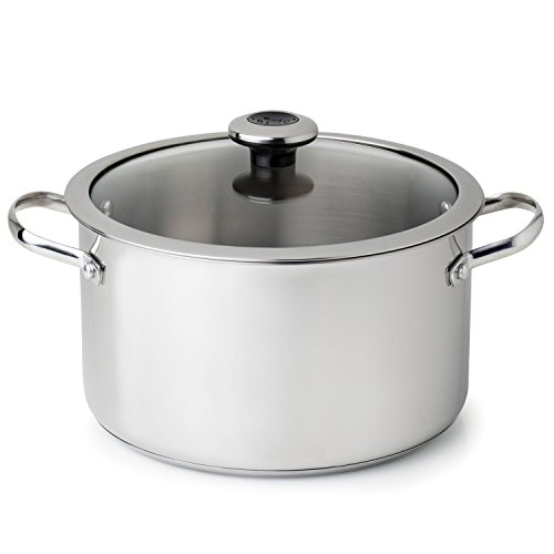 Revere 6.5 quart Stock Pot with Lid, One Size, Stainless Steel