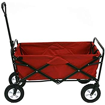 Mac Sports Folding Red Wagon