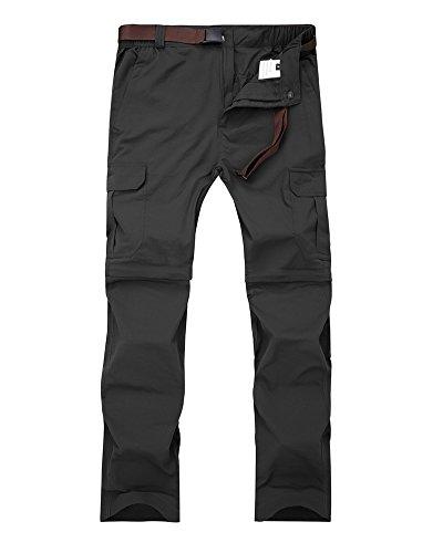 Women's Outdoor Quick Dry Convertible Lightweight Hiking Fishing Zip Off Cargo Pant #1088F, Black US - Pay Uva