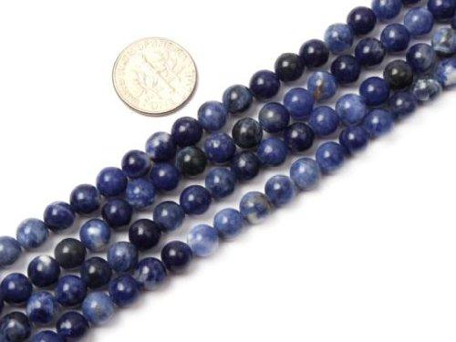 Sodalite 6mm Round Beads (6mm Round Sodalite Stone Beads Strand 15