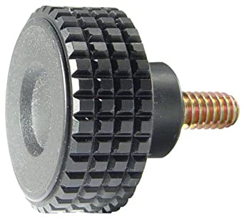 Innovative Components AN6C1000F421 1.75Fluted knob 3//8-16 X 1.00 steel zinc stud black pp Pack of 10