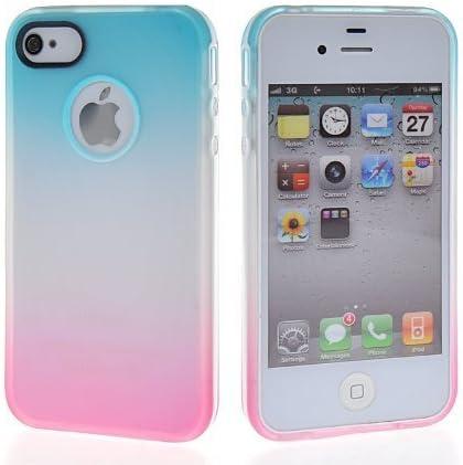Étui pour iPhone 4 iPhone 4S,ruirs joli dégradé souple en gel TPU ...