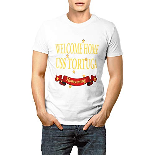 (Navy Military Welcome Home USS Tortuga Large Deployment Men's Short Sleeve T-Shirt)