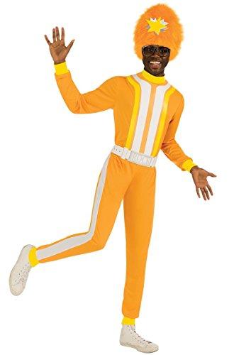 888540 DJ Lance Costume Yo Gabba Gabba Adult Standard to 44 Chest Yellow