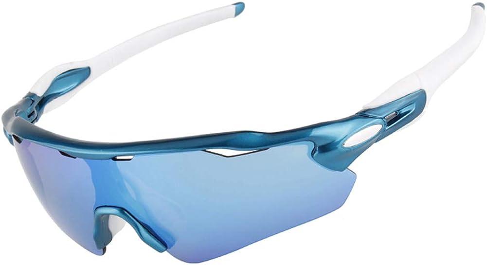 KULONG Polarized Cycling TR90 Sunglasses for Men Women UV400 Sports Glasses
