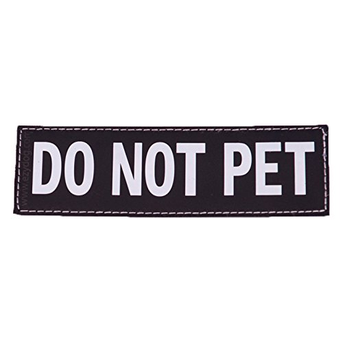 Ezydog Reflective Harness - EzyDog Side Badge - Clearly Identifies Your Dog When Wearing the Convert Dog Harness - Set of Two Badges (Do Not Pet, Large)