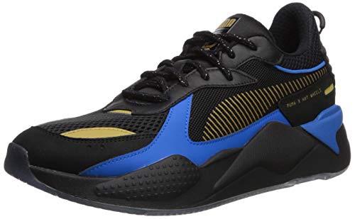 PUMA Men's RS-X Toys Hotwheels Bone Shaker Sneaker, Black Team Gold, 9 M US (Transformers Tennis Shoes)