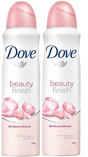 Dove body spray Anti-Perspirant/Anit-Transpirant, Pack of 2X250ml/8.5oz, Beauty Finish from Dove