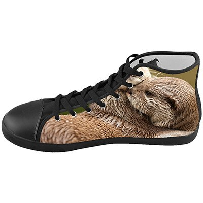 Custom Kid's Shoes Otter Animal New High Top Canvas