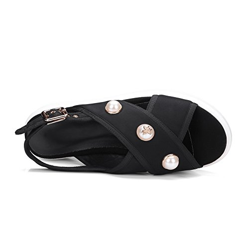 AdeeSu Womens Studded Travel Hiking Leather Sandals SLC03930 Black Ez0oJ0