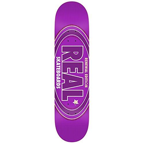最大種楽観的RealスケートボードデッキOval Remixパープル7.56