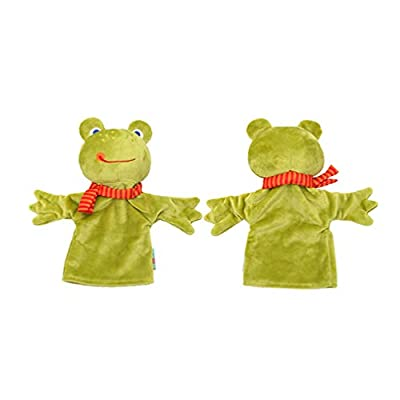 NUOBESTY 2pcs Soft Plush Finger Toys Cartoon Plush Toy Cute Animal Figurine Story Telling Toys Monkey Frog Puppet Soft Velvet Toddlers Glove Dolls for Children Kids: Toys & Games