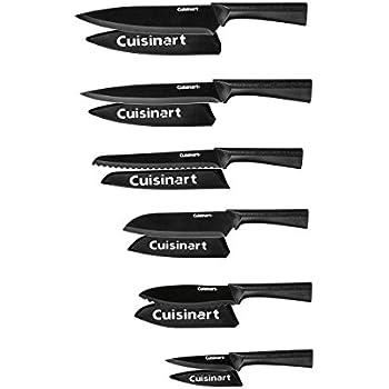 Elegant Cuisinart C55 12PMB Advantage 12 Piece Metallic Knife Set With Blade  Guards, Black