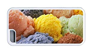 linJUN FENGHipster DIY iphone 5/5s cover ice cream TPU White for Apple iphone 5/5s