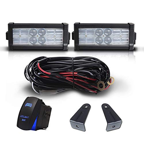 "DOT 7"" Inch 36W Led Light Bar Combo Bumper Reverse Front Grille Guard Light + 1x Rocker Switch + 1x Wiring Harness for Trailer SUV ATV Truck Jeep Wrangler Dodge Chevy RV Ford F150 F250 Tractor Toyota"