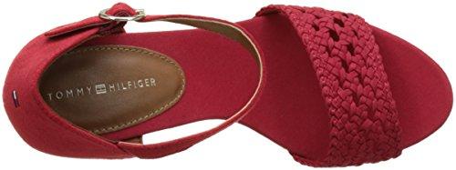 Tommy Hilfiger Damen INT E1285del 5c Knöchelriemchen Rot (Tango Red 611)