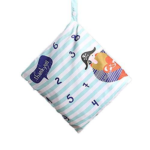 Monbedos Baby kleinkind wasserdichtem rei/ßverschluss,Wiederverwendbare Wickeltasche,Wickeltasche aus Filz
