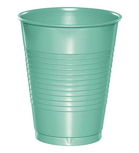 - Creative Converting 318883 Plastic Cups, 16 oz, Fresh Mint (20 Count)