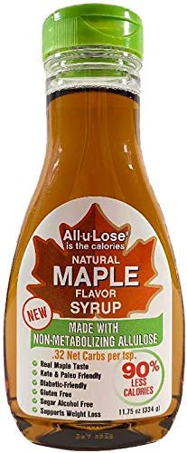 Maple Syrup All-u-Lose, Natural, Low Carbs & Calories made with Allulose