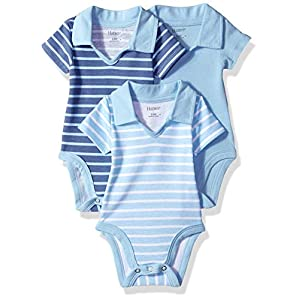 Best Epic Trends 41Pe6yIRutL._SS300_ Hanes unisex-baby Ultimate Baby Flexy 3 Pack Short Sleeve Polo Bodysuits