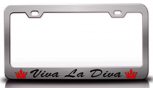 viva-la-diva-with-script-writing-steel-metal-license-plate-frame-ch-37