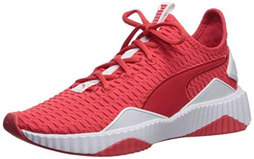 PUMA Women's Defy Sneaker, hibiscwhite, 8.5 M - Red Stripes Sneakers Women