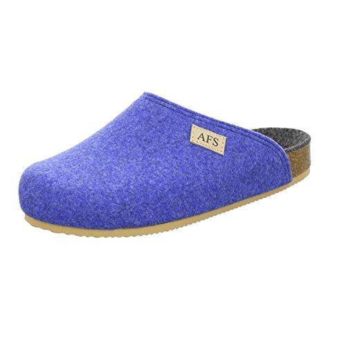AFS-Schuhe 26910 Filz Hausschuhe Damen, Bequeme, Warme Winter Pantoffeln Größe 36 Blau (Hellblau)