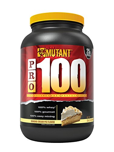 Hard Fast Banana (Mutant Pro – 100% Whey Protein Shake With No Hidden Ingredients, Made In Gourmet, Delicious Flavors - Banana Cream Pie Flavor)