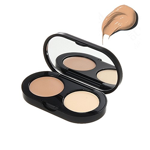 (Bobbi Brown New Creamy Concealer Kit, Warm Natural + Pale Yellow Sheer Finish Pressed Powder, 0.11)