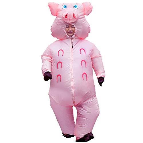 Trio Group Halloween Costumes (Inflatable Pig Costume Thanksgiving Day Gifts Christmas Costumes Fancy Dress Masquerade Funny Cosplay Party Clothes for Adult)