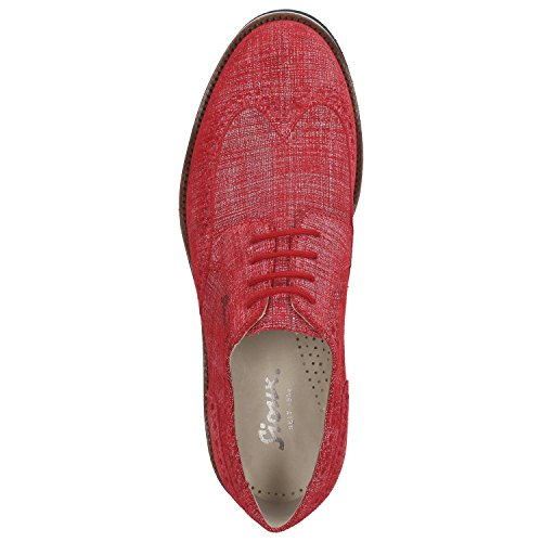 Sioux Men's Lace-Up Flats red red VErGb2