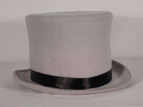 HMS Men's Sim Wool Bell Topper Hat, Grey, One Size - Sim Costume