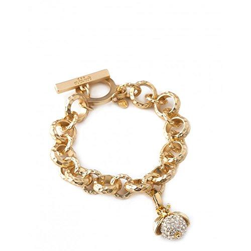 Textured Link Toggle Bracelet